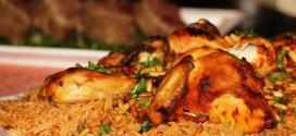 أرز محمر مع الدجاج