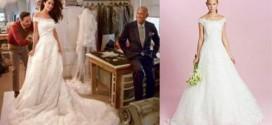 فستان زفاف امل علم الدين للبيع