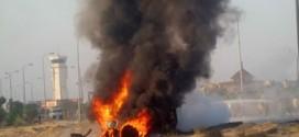 اشتعال النار فى عربة صهريج لنقل الوقود بعد اصطدامها بشاحنة فى ألمانيا