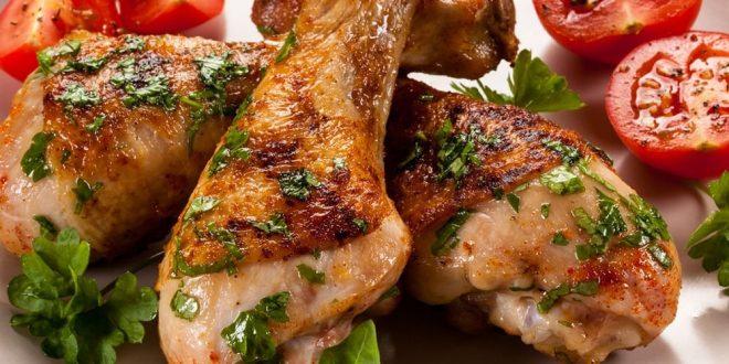 كيفية تحضير الدجاج المشوي بالريحان والبرتقال