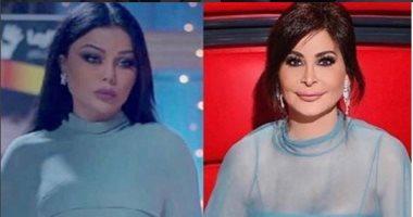 فستان إليسا وهيفاء المتشابه