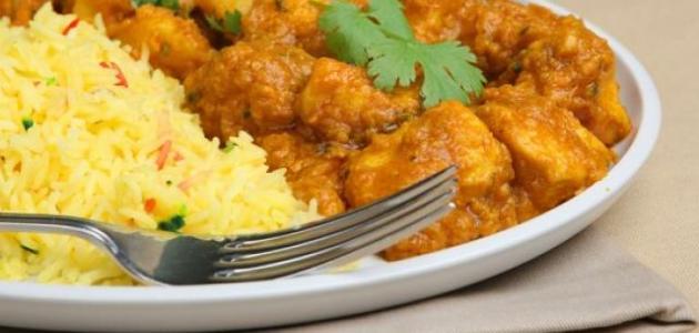 طبق الأرز والدجاج الهندي