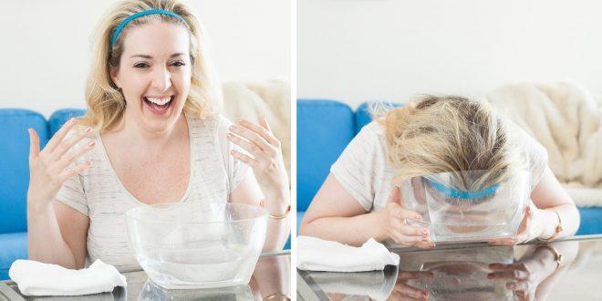 غسلت وجهها بالمياه الغازية وكانت هذه هي النتيجة