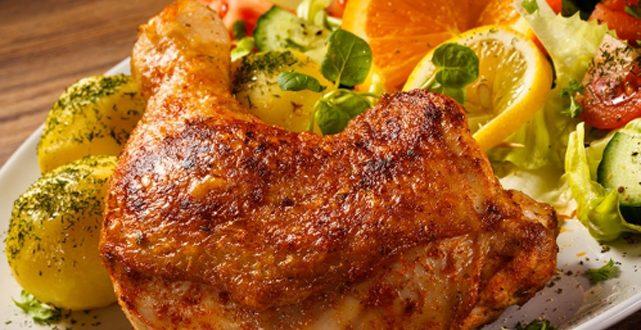 مكونات الدجاج بالفرن