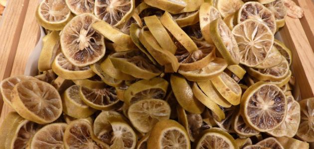كيفية تجفيف الليمون