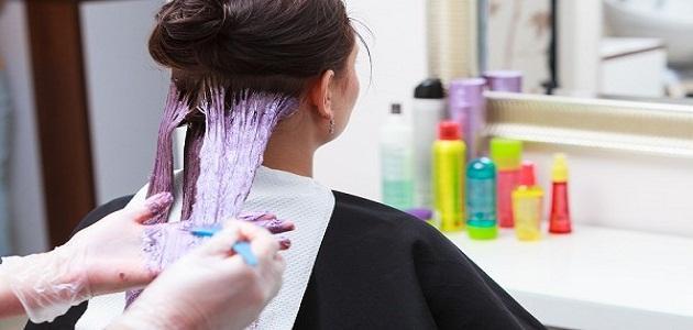 ازالة صبغة الشعر من الملابس