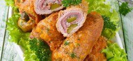 كيفية تحضير لفائف الدجاج البانيه بالبسطرمة والجبنة