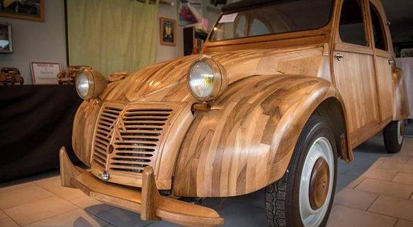 اغرب سياره من الخشب