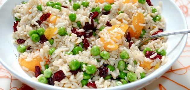 تحضير سلطة الأرز